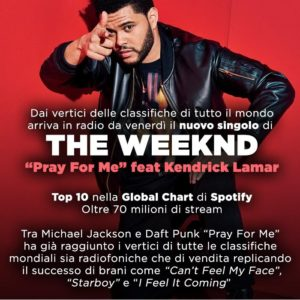 Pray for me il nuovo singolo di the weekend e kendrick lamar. Canzone e video.